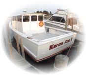 The Karen Ann II, a custom downeast charter boat for deep sea fishing in New Jersey.